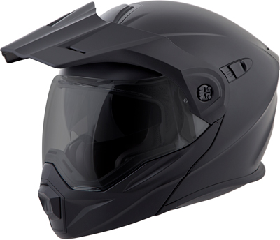 SCORPION EXO-AT950 COLD WEATHER HELMET W/ELECTRIC SHIELD BLACK
