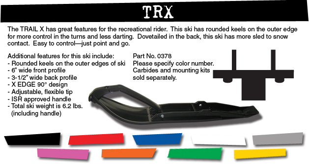 TRAIL SKI RED TRX